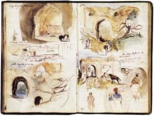 Carnet de voyage d'Eugène Delacroix