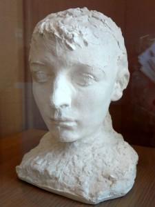 Camille claudel aux cheveux courts, buste plâtre, Rodin-1
