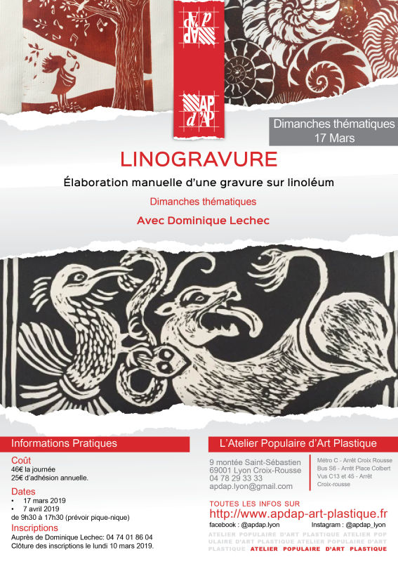 Linogravure- mars 2019