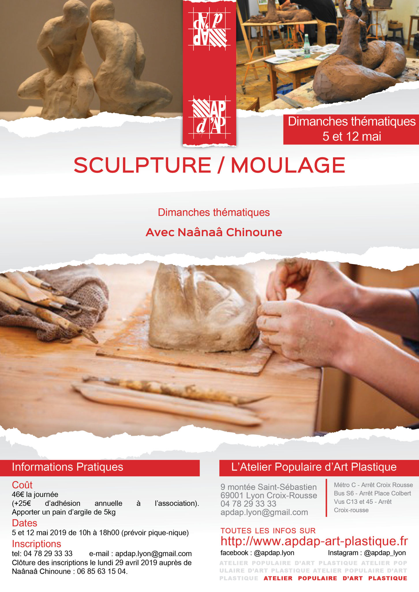 Sculpture-moulage mai 2019