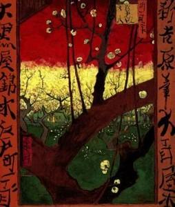 Van gogh - japonaiserie, le prunier en fleurs