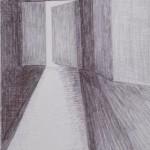 Porte noir et blanc